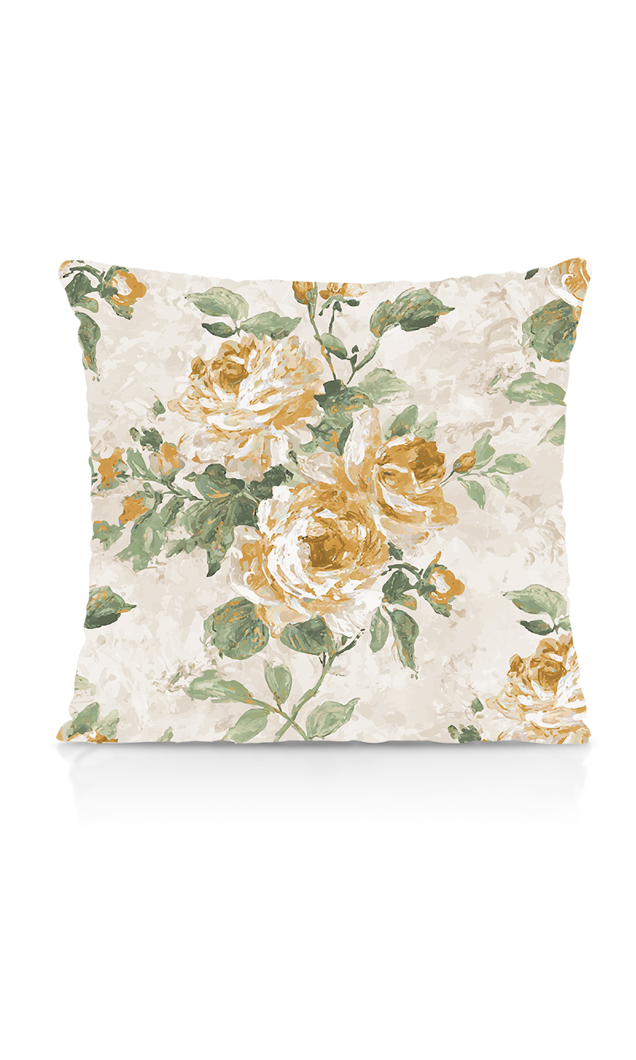 Printed Floral Custom Knife Edge Cushions