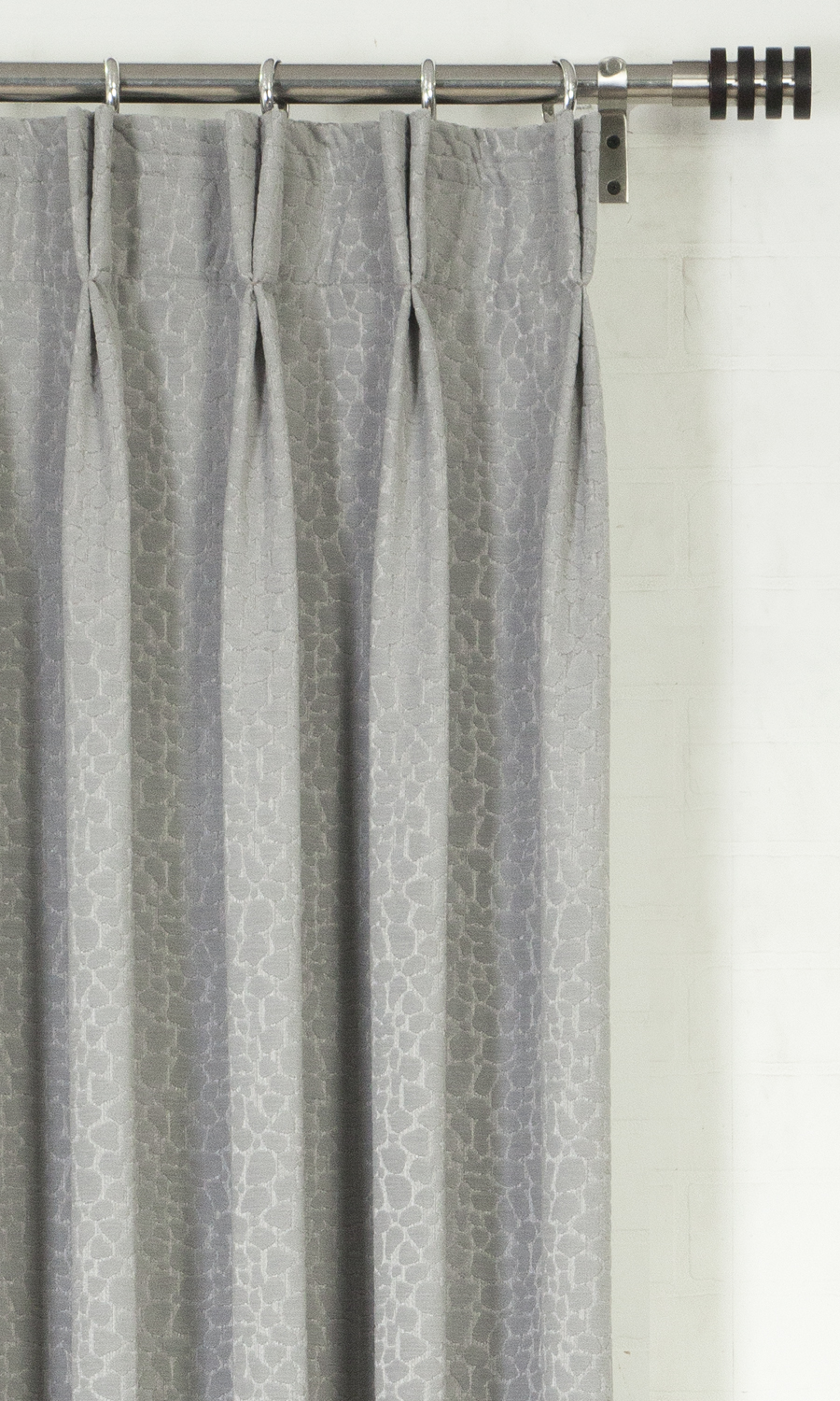 Grey Double Pinch Pleat Custom Drapes