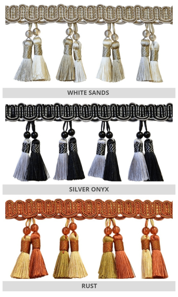 Tassel Trims For Roman Shades & Curtains