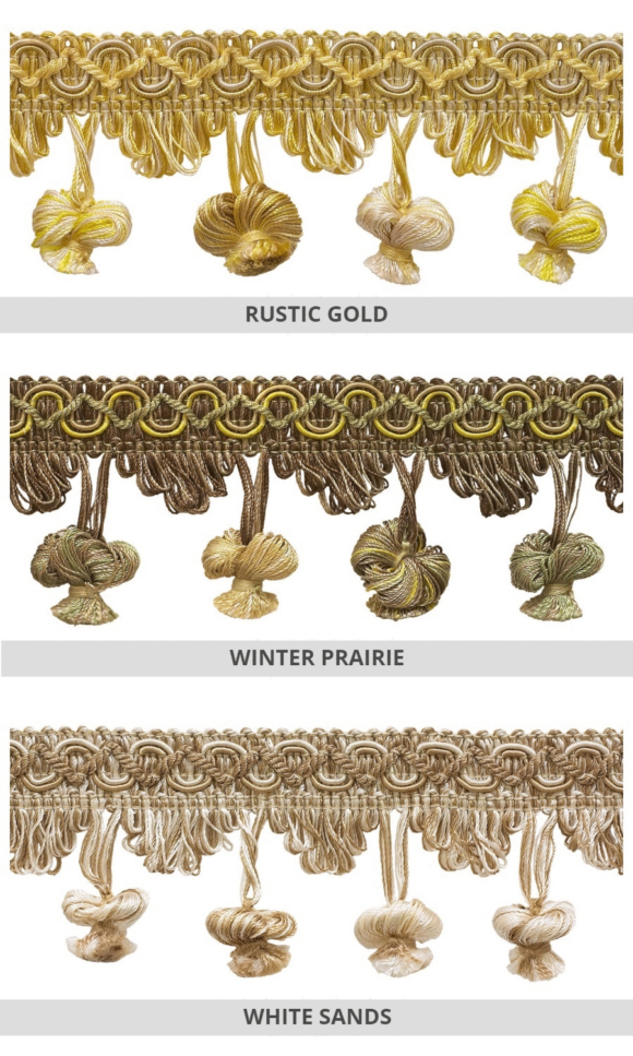 Tassel Trims For Curtains & Roman Shades
