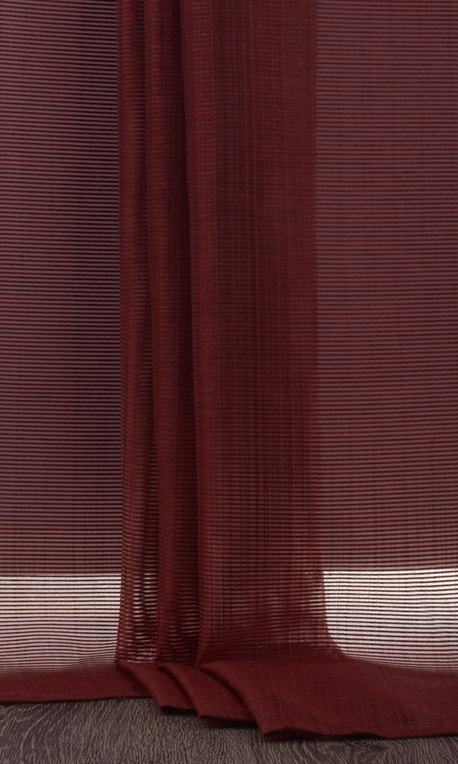 Red Striped Extra Long Curtains