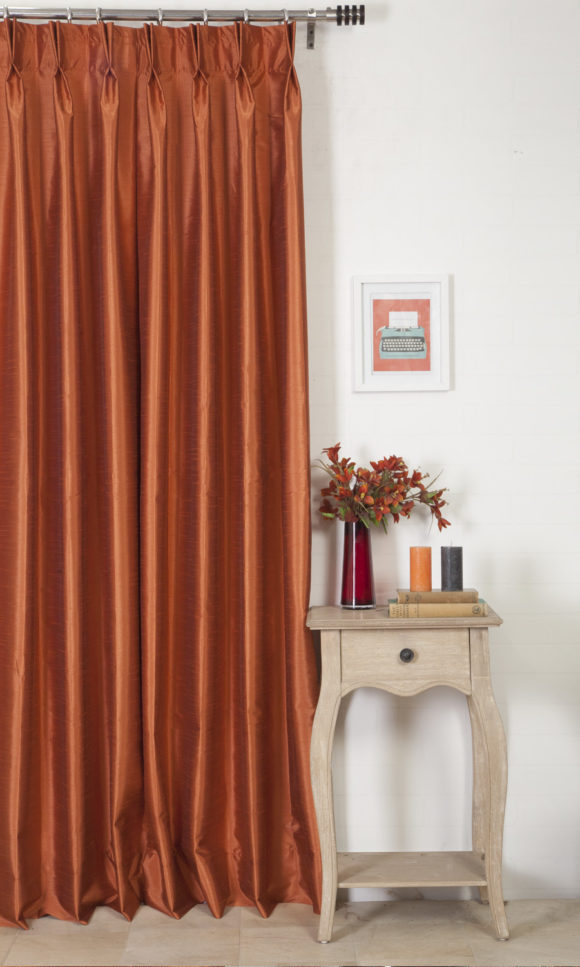 Silk Extra Long Custom Curtains