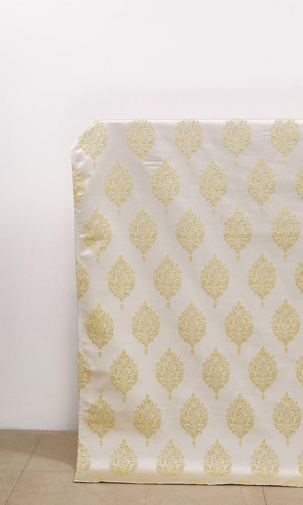 White & Yellow Custom Roman Blinds