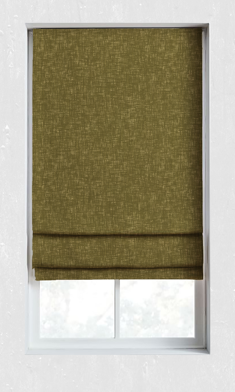 Green Plain Custom Roman Shades