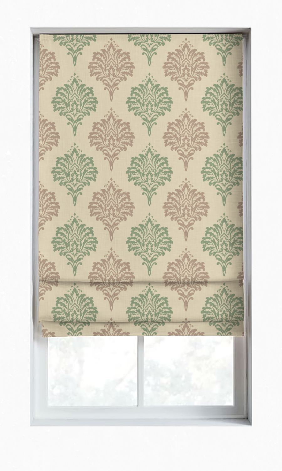 Printed Custom Roman Blinds For Bedroom