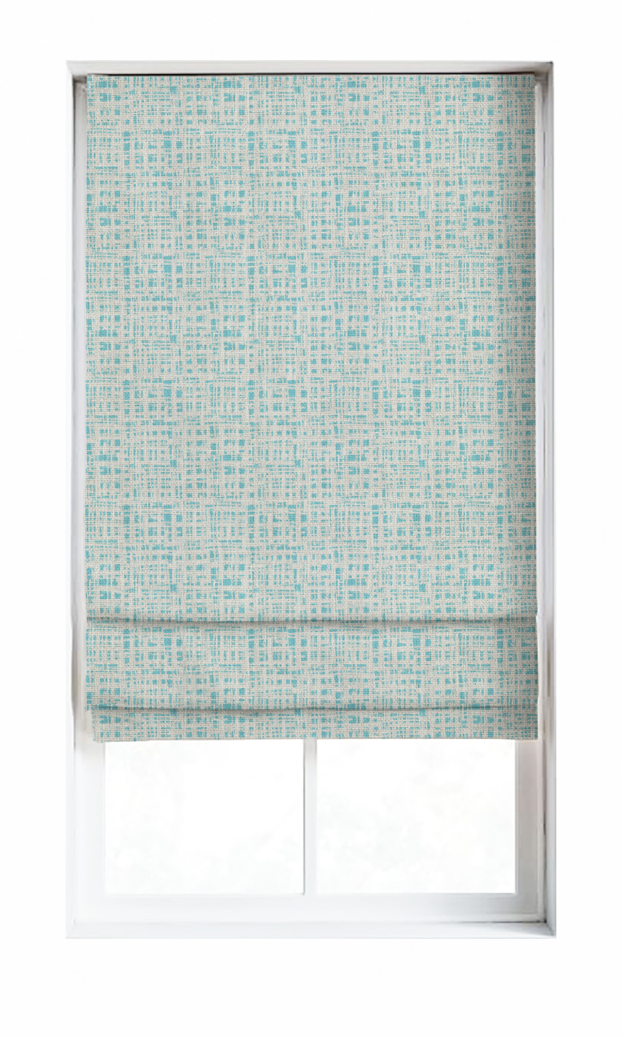 Regan Blue Custom Roman Blinds For Living Room