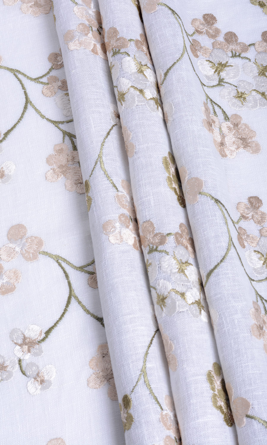 Sheer Floral Custom Drapes For Dining Room