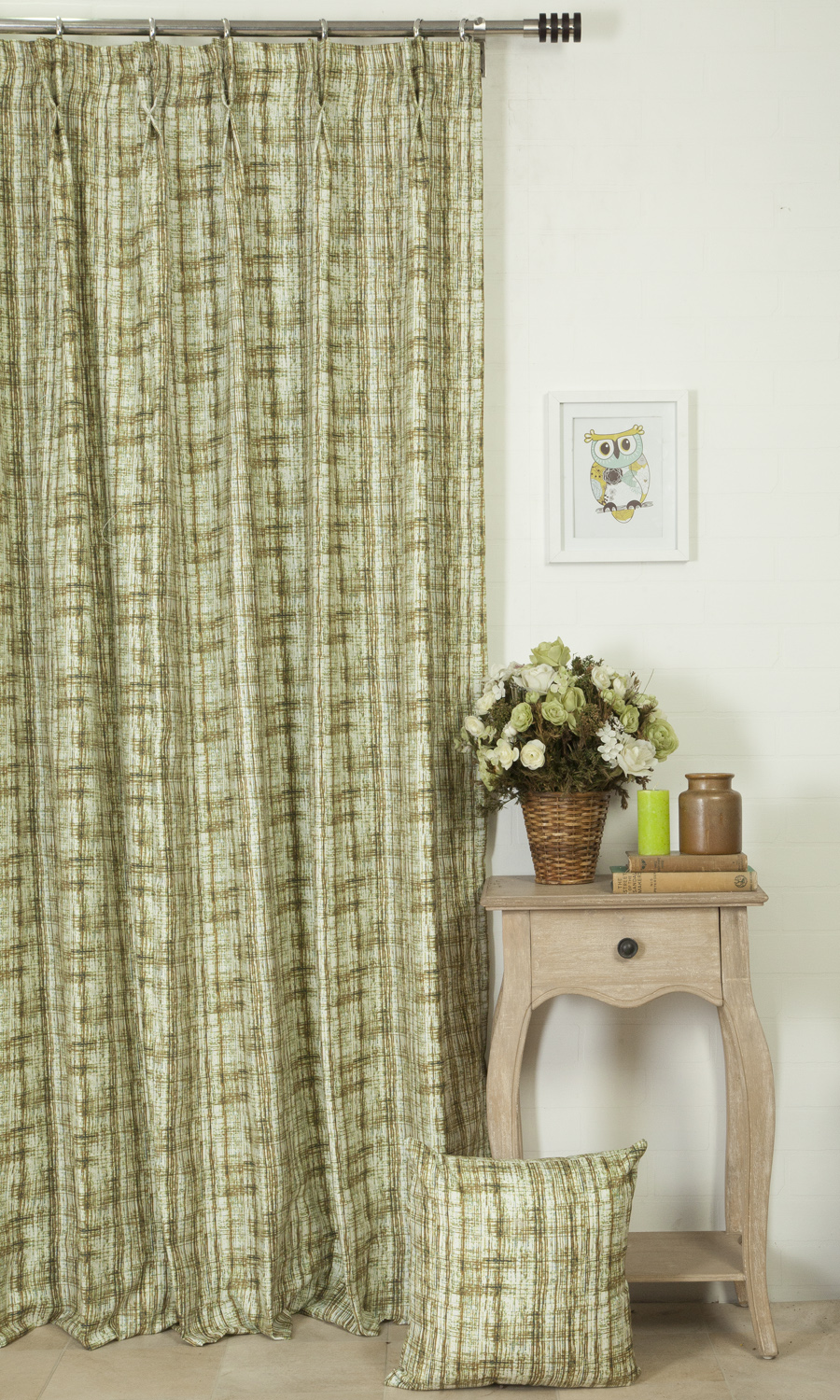 Printed Cotton Extra Long Custom Curtains
