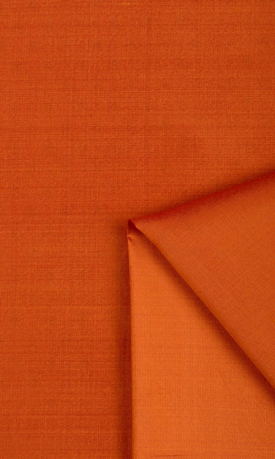 Orange Silk Custom Roman Shade