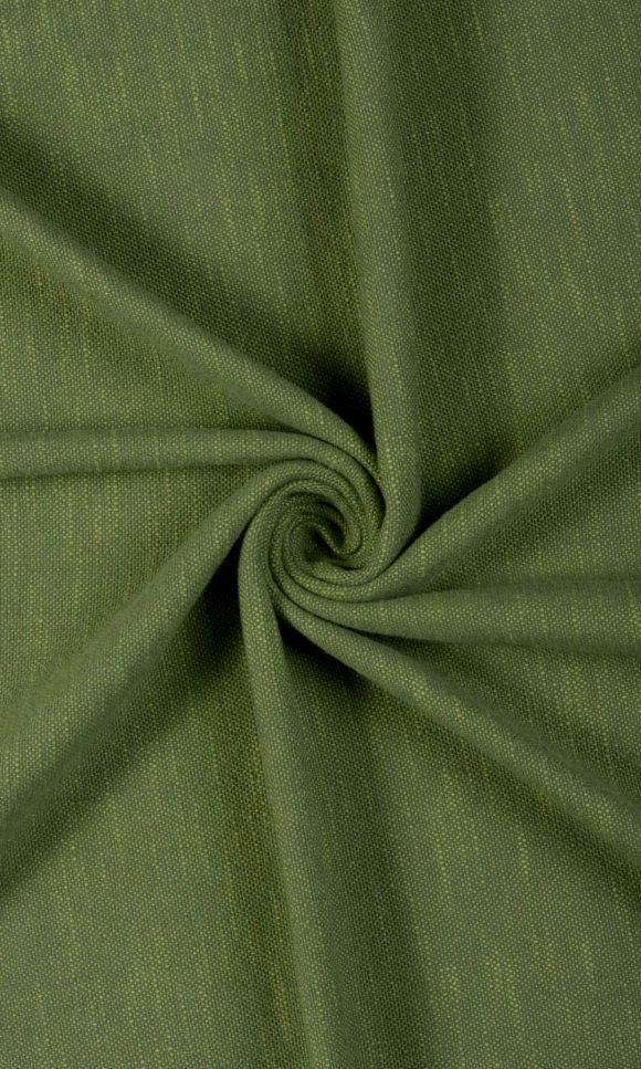 Green Cotton Living Room Custom Drapes