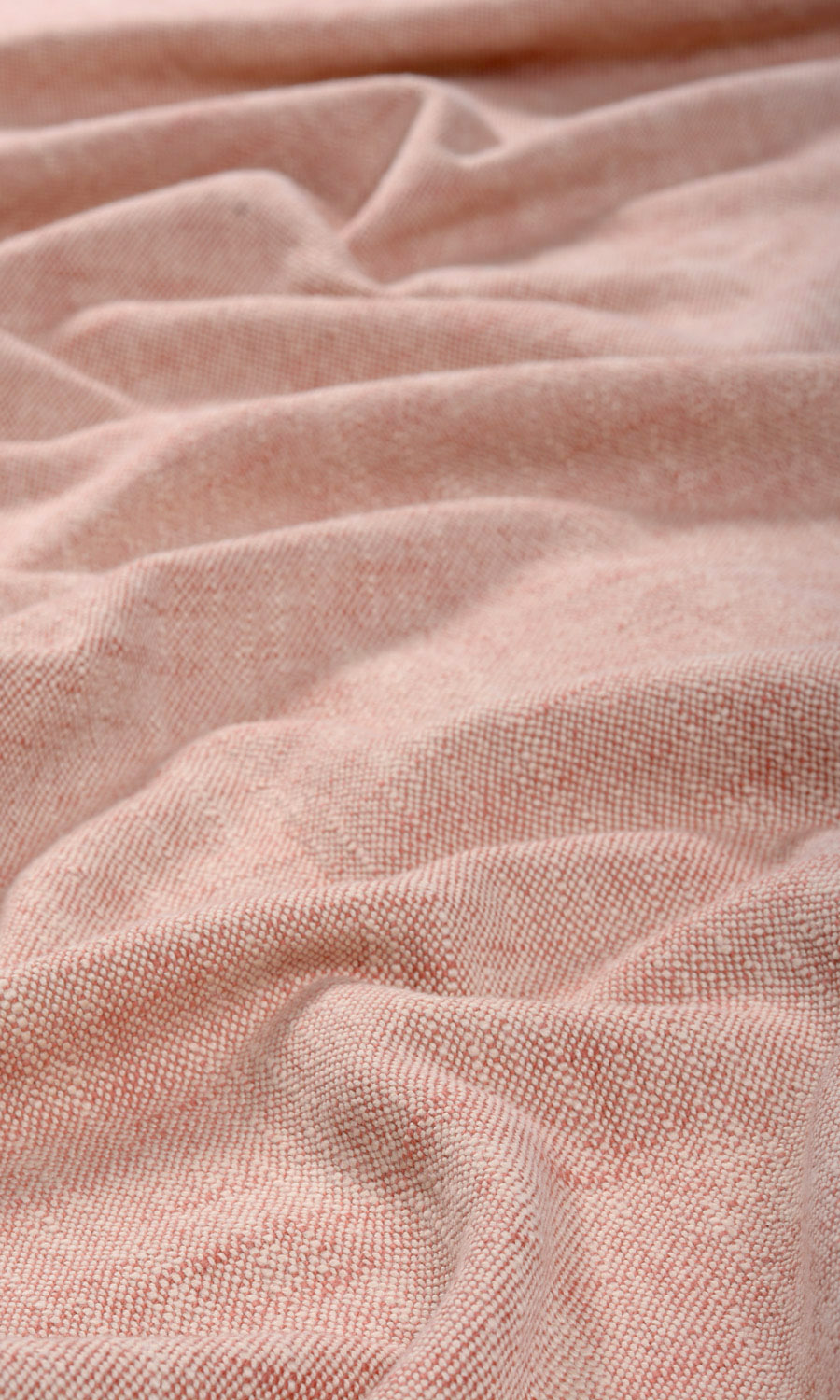 Pink Cotton Custom Drapes