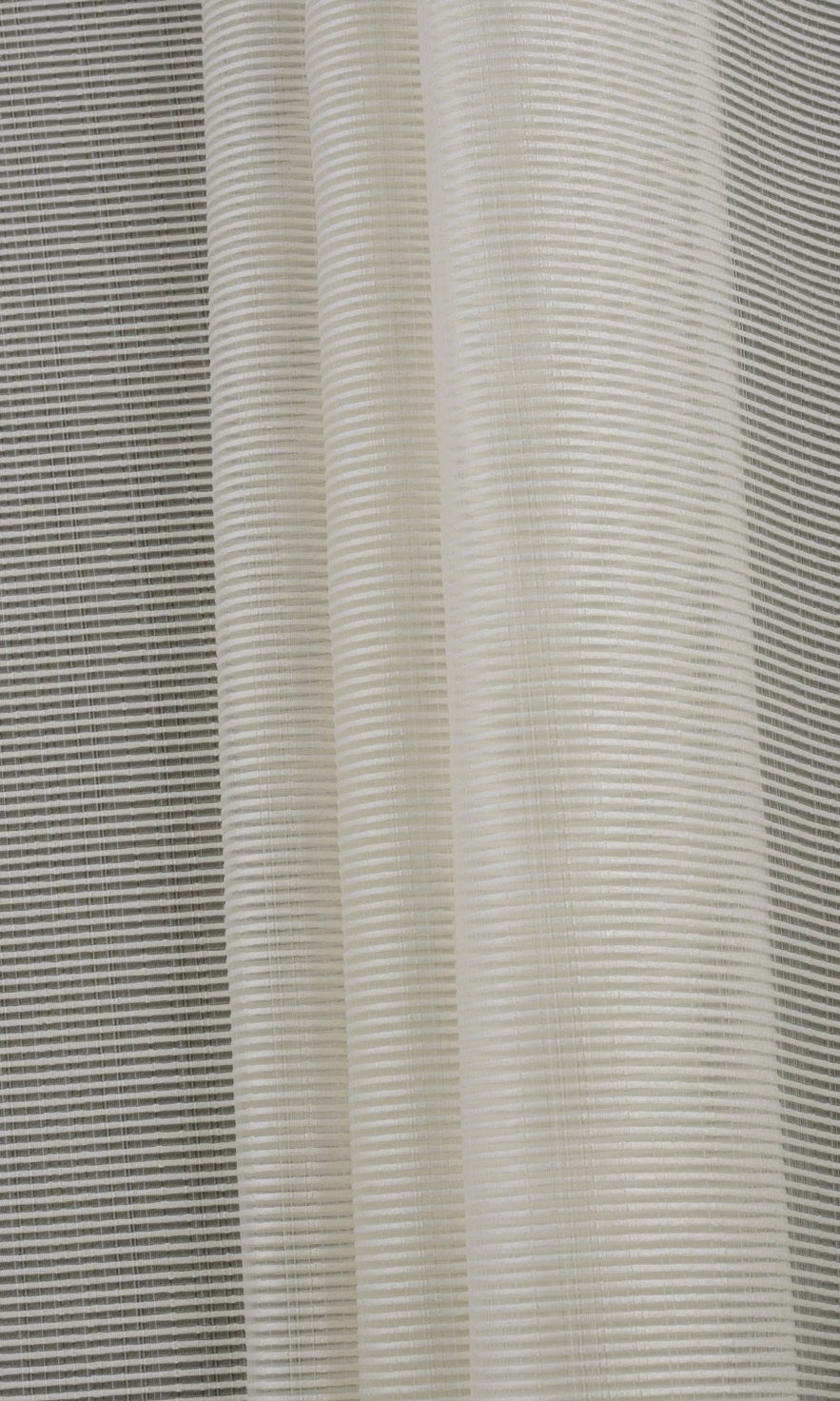 White Striped Sheer Custom Drapery