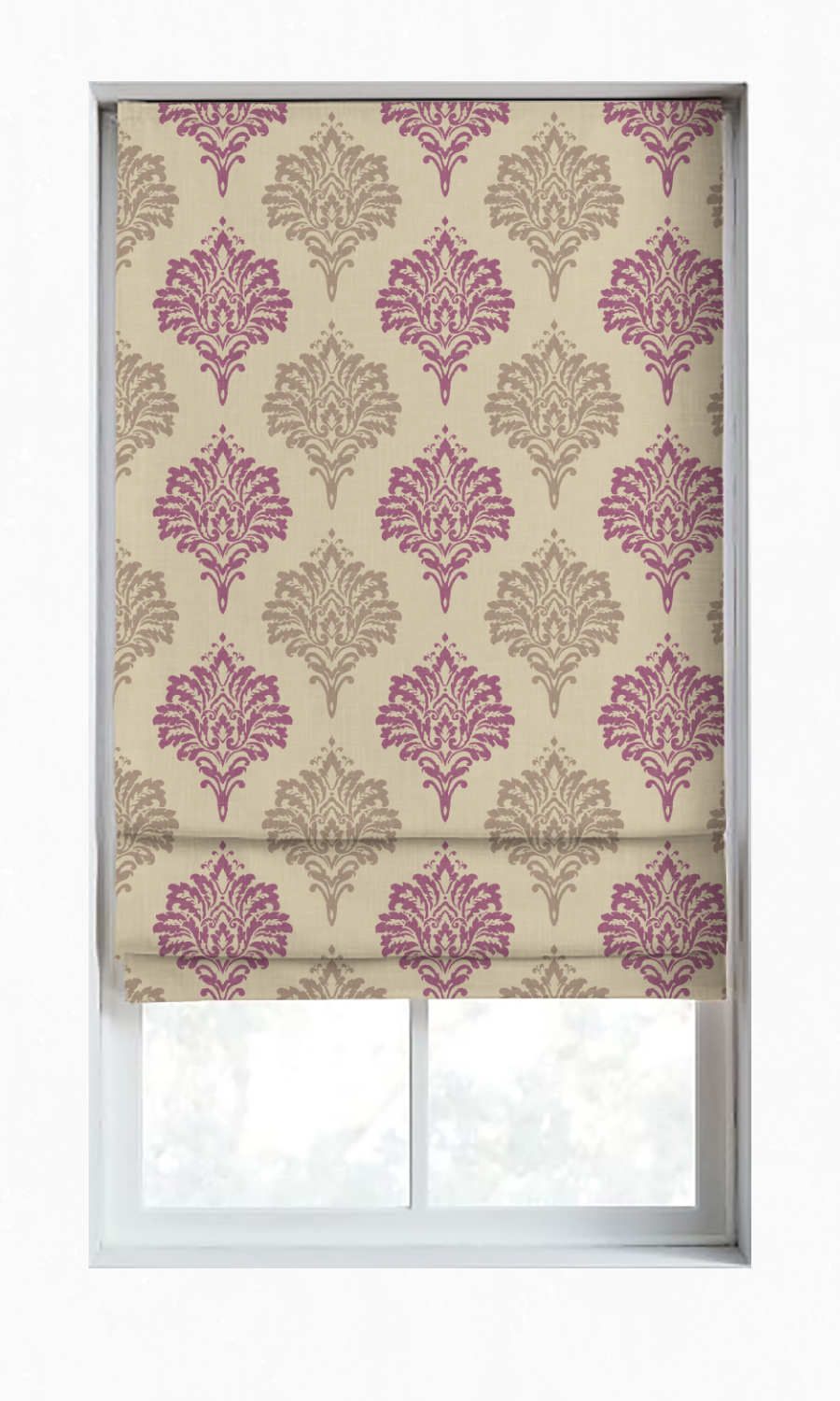 Floral Printed Custom Roman Shade