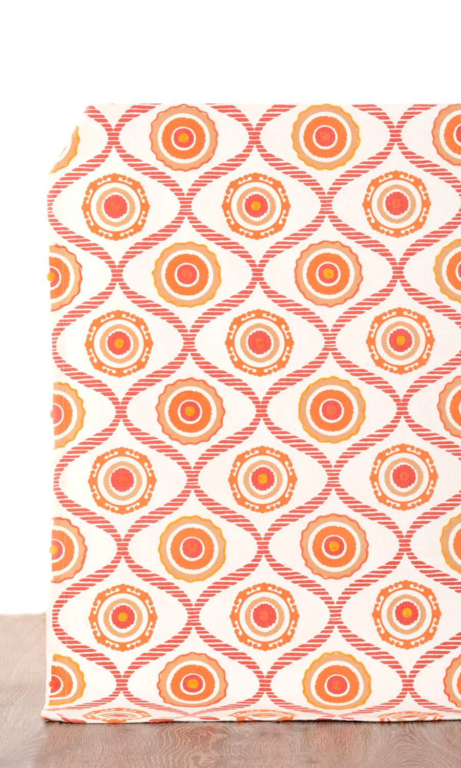 Orange Cotton Abstract Printed Custom Cushions