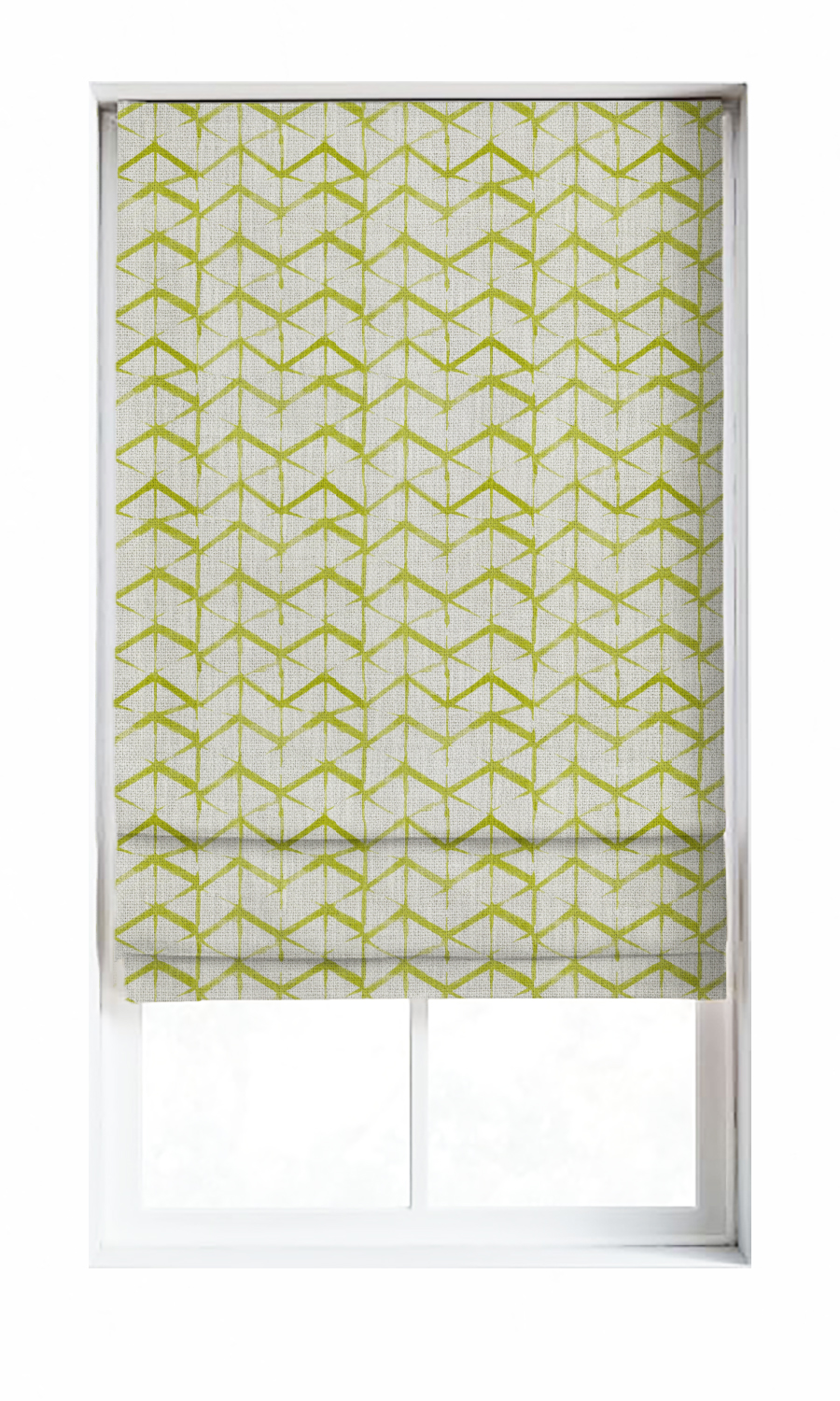 Zig Zag Printed Custom Roman Blinds For Bedroom