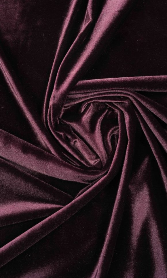 Dark Pink Velvet Custom Drapes