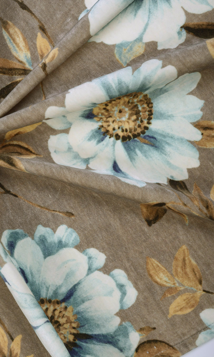 Floral Printed Custom Drapes For Bedroom