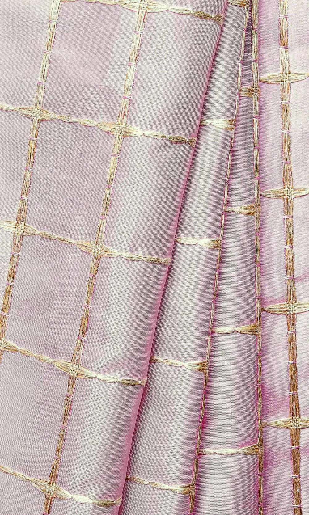 Pink Wide Window Curtains