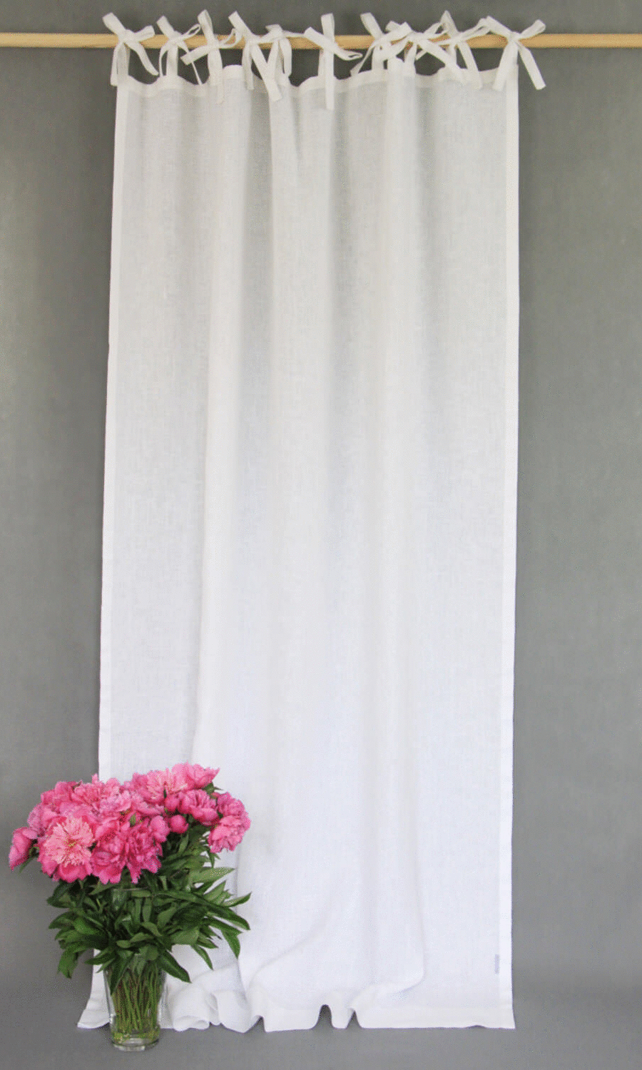 White & Ivory Tab Top Custom Curtains