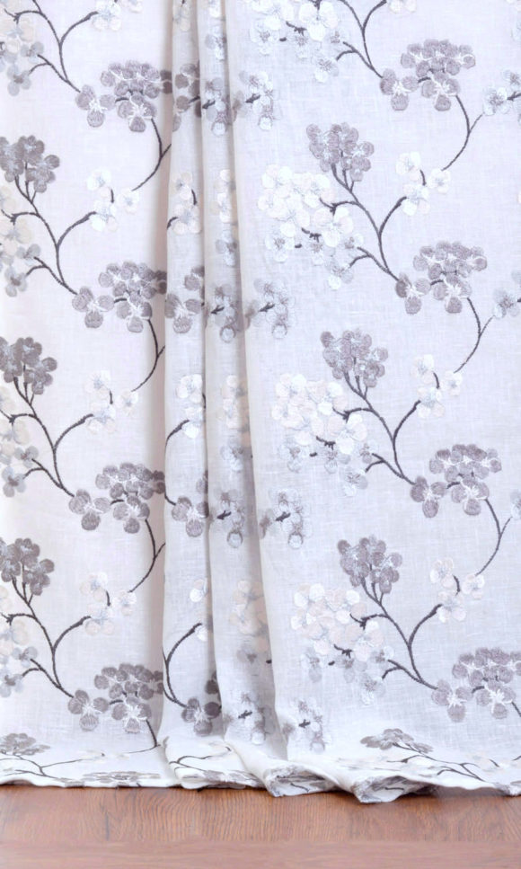 Sheer Floral Custom Curtains For Living Room
