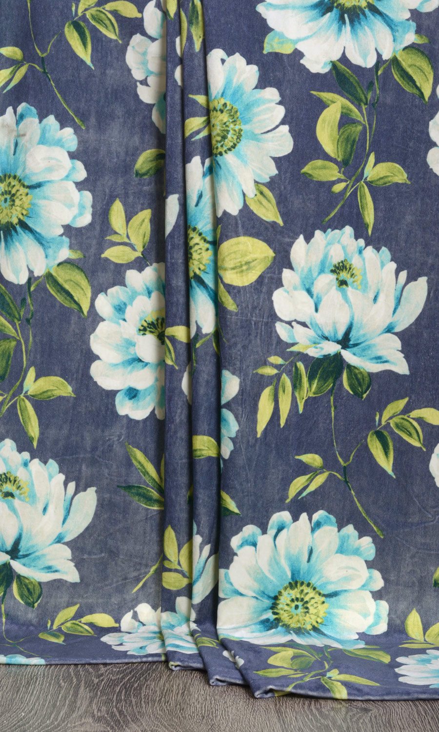 Floral Extra Long Custom Curtains