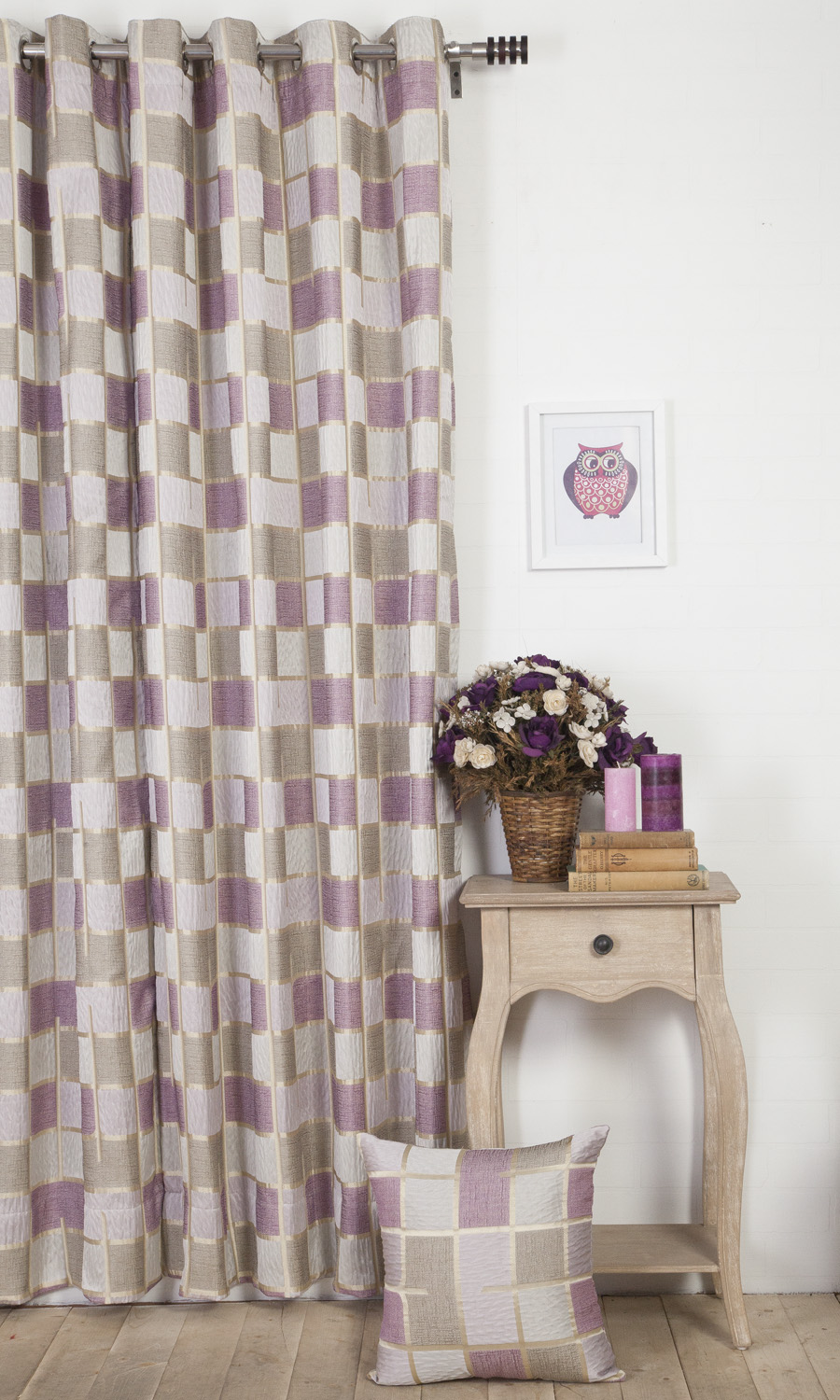 Abstract Custom Curtains For Bedroom