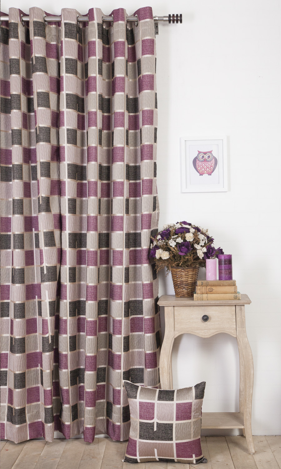 Abstract Custom Grommet Top Drapes