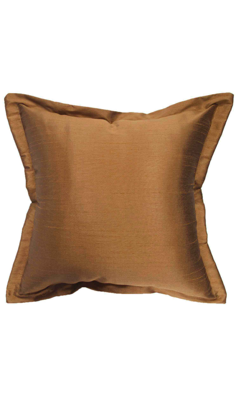 Brown Silk Flange Edge Cushion