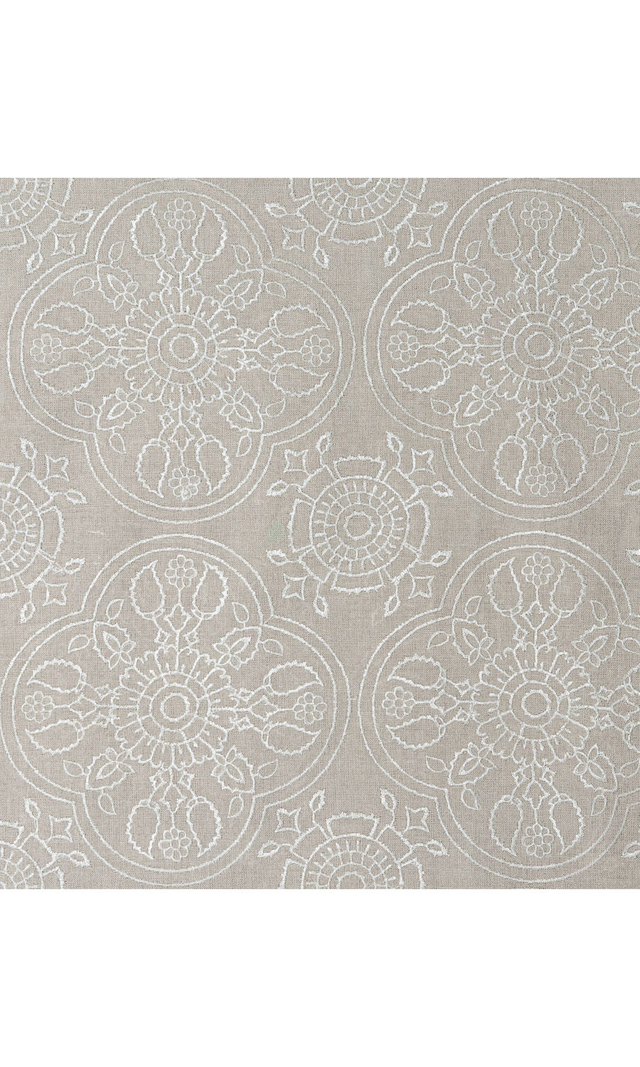 Brown Floral Printed Custom Drapes For Dining Room