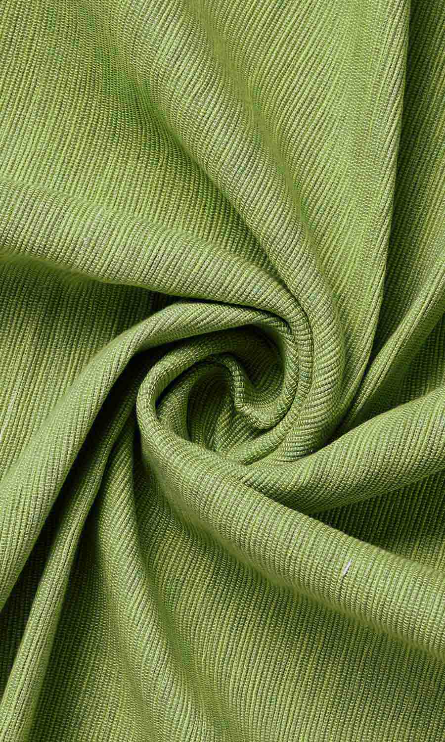 Green Cotton Custom Drapery