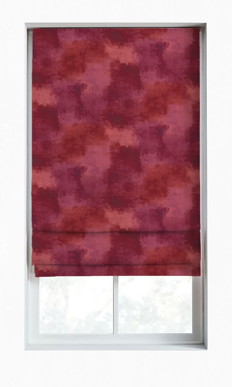 Red Roman Blinds For Living Room