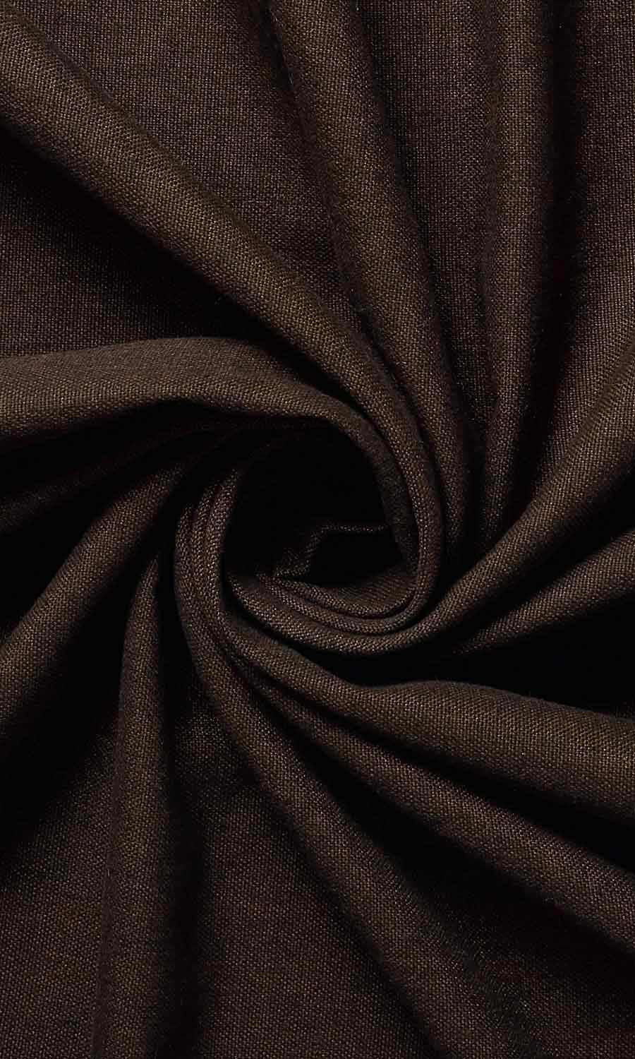 Brown Cotton Wide Custom Curtains