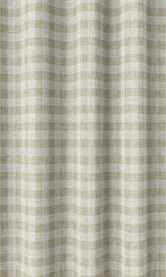 Beige Checked Custom Fake Shades For Dining Room