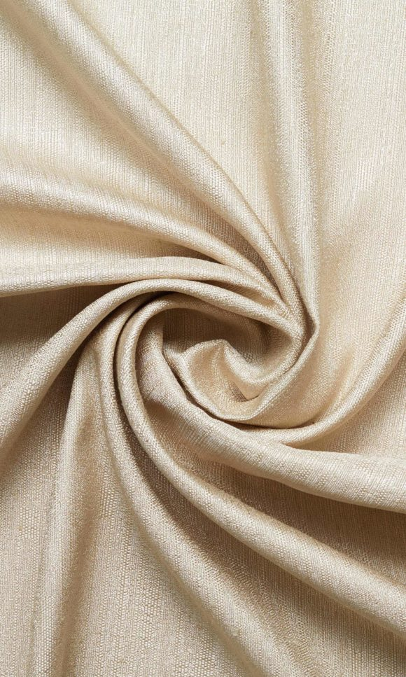 Wheat Gold Floral Custom Drapes For Bedroom