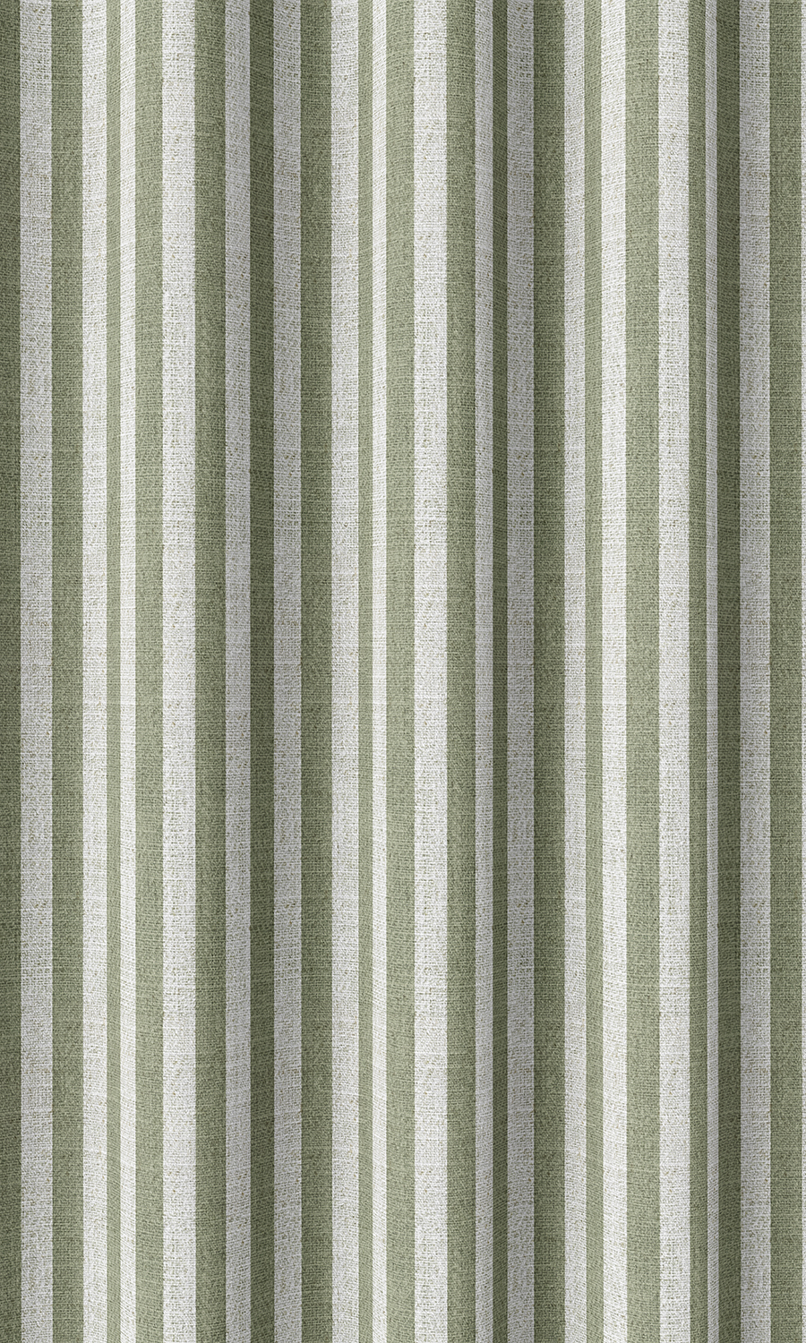 Green Striped Affordable Custom Drapery