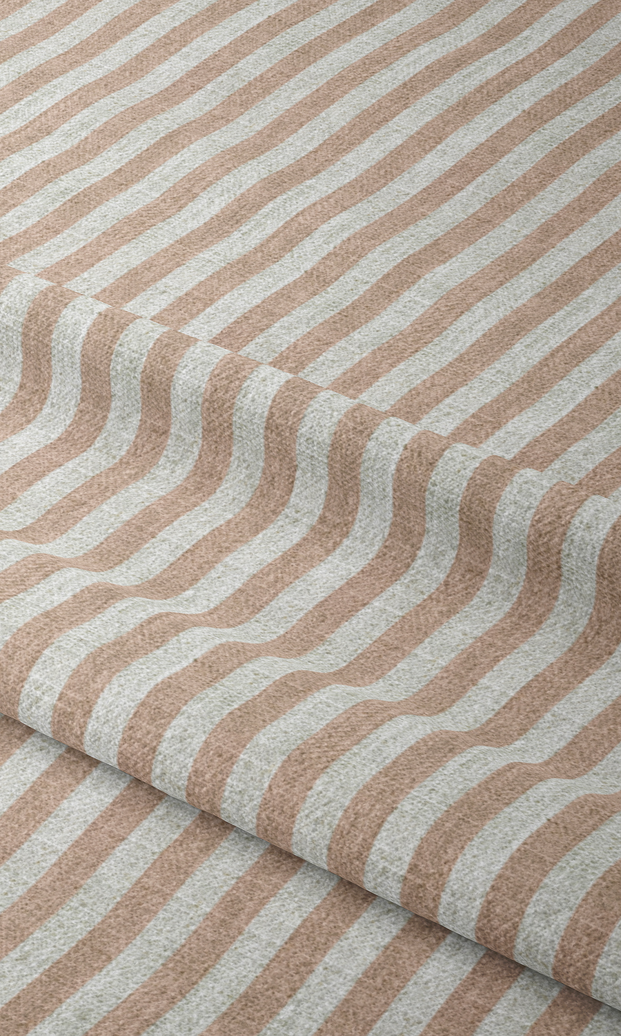 Pink Striped Custom Drapery For Playroom