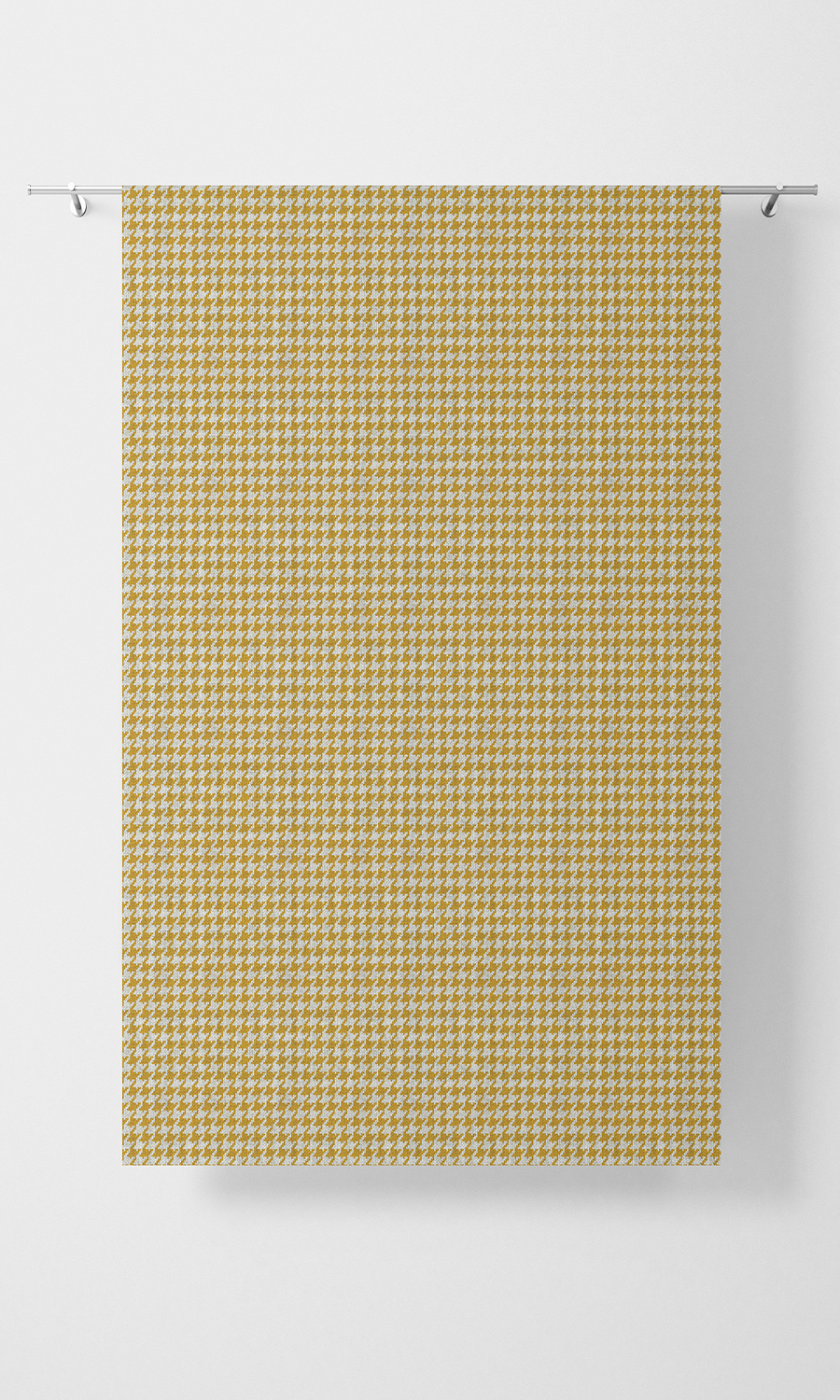 Yellow Checked Budget Custom Window Treatments For Living Room