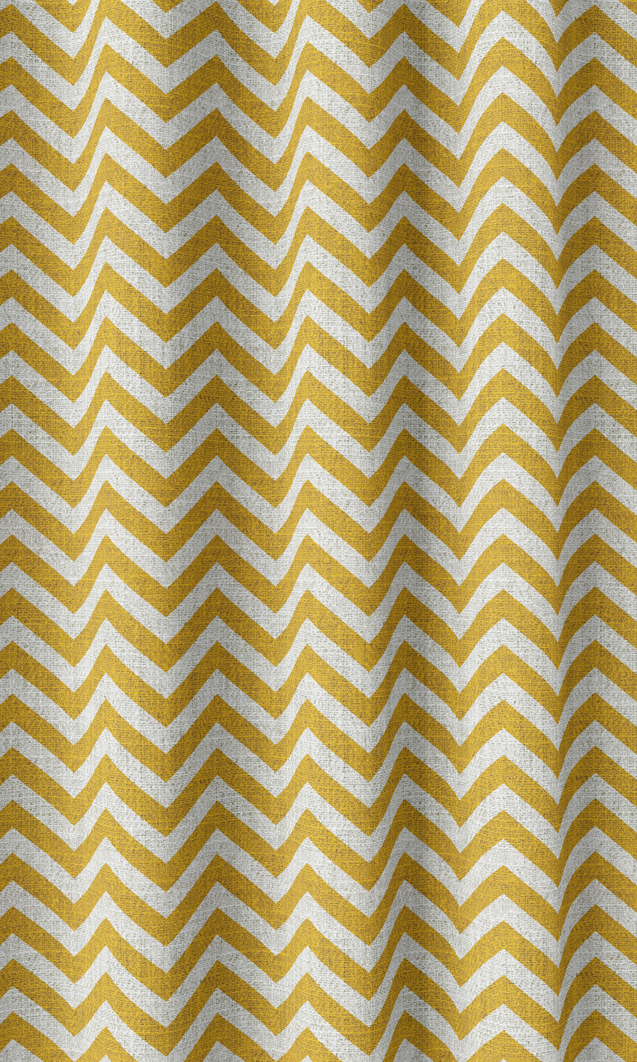 Yellow Zig Zag custom Drapery & Roman Blinds