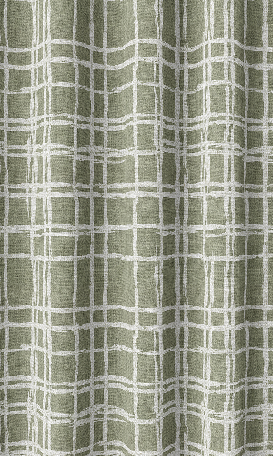 Green Checked Affordable Custom Drapes