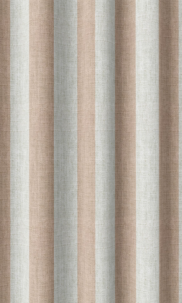 Pink Striped Affordable Custom Drapery For Nursery