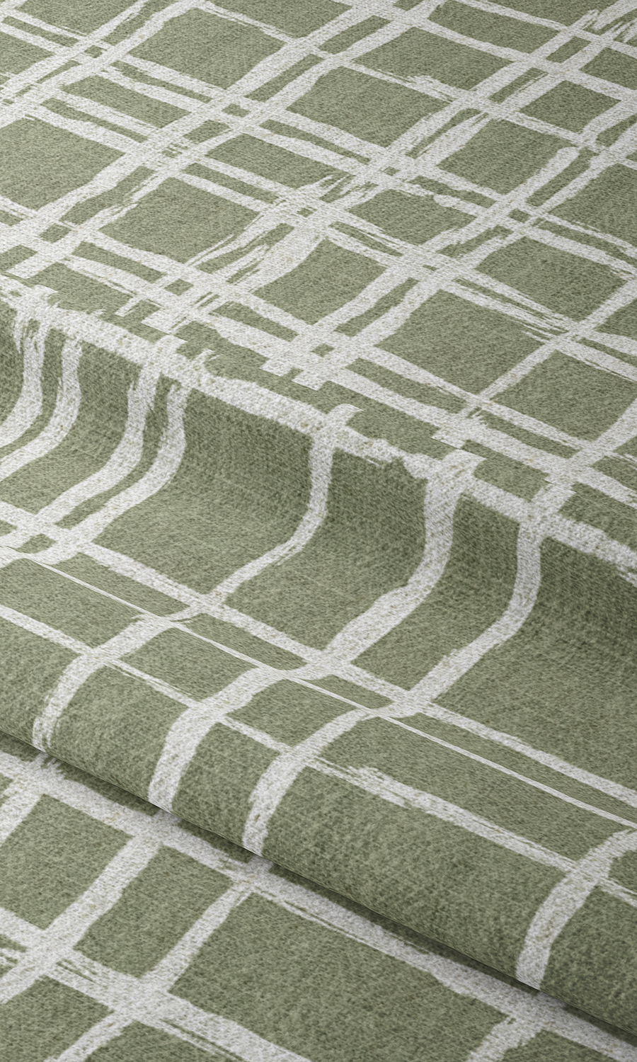 Green Checked Affordable Custom Drapery