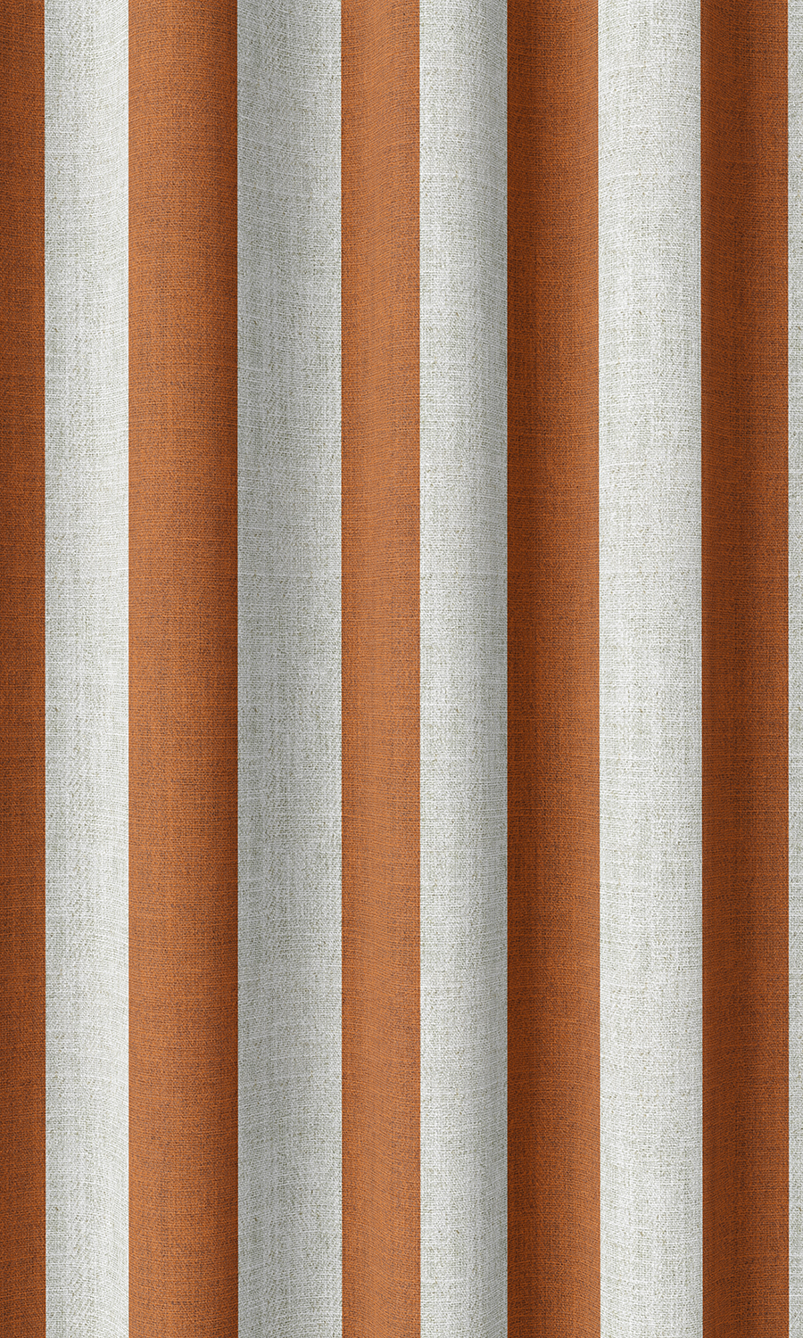 Orange Striped Custom Drapery & Roman Blinds