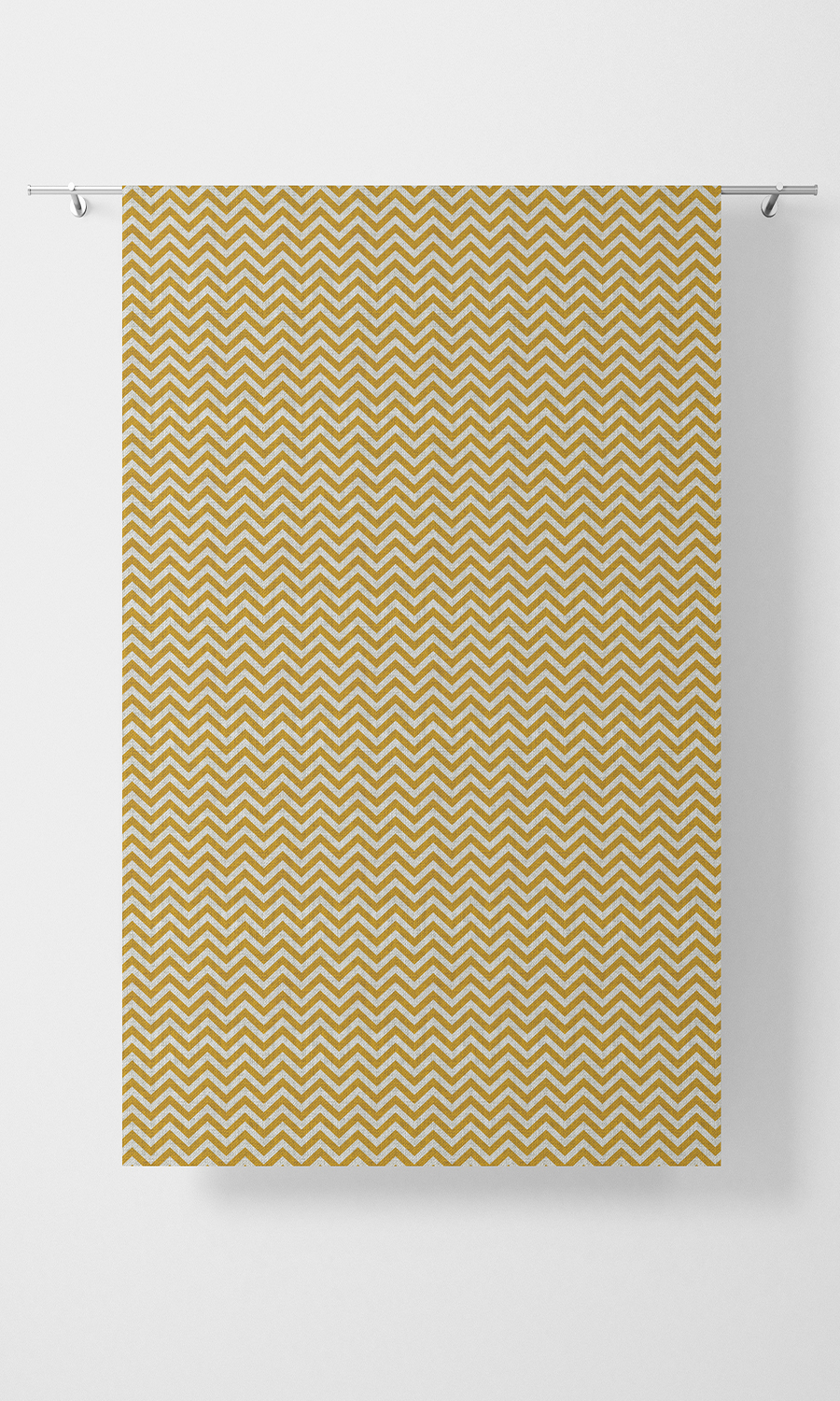 Yellow Zig Zag Custom Roman Blinds For Kitchen