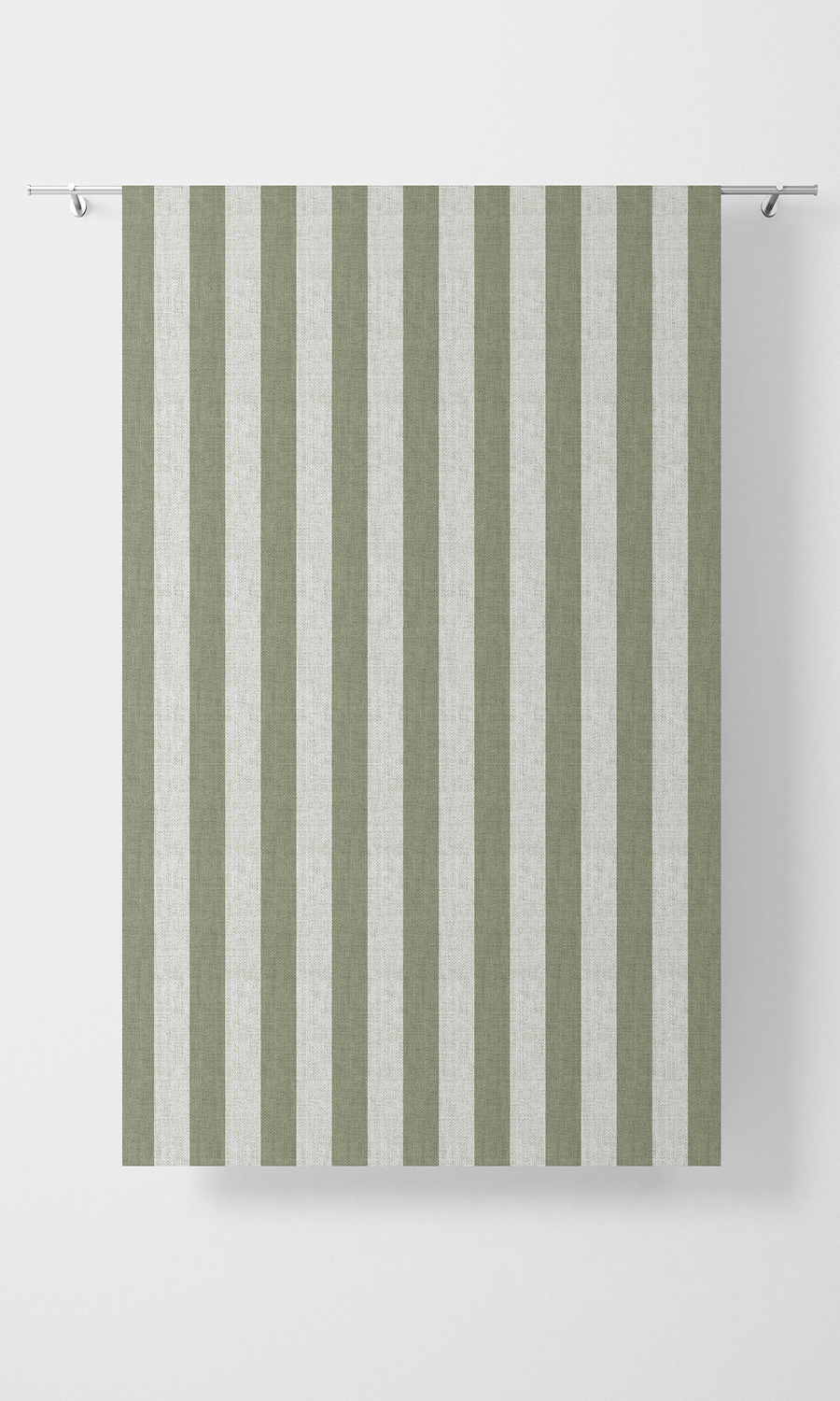 Green Striped Custom Roman Blind For Linving Room