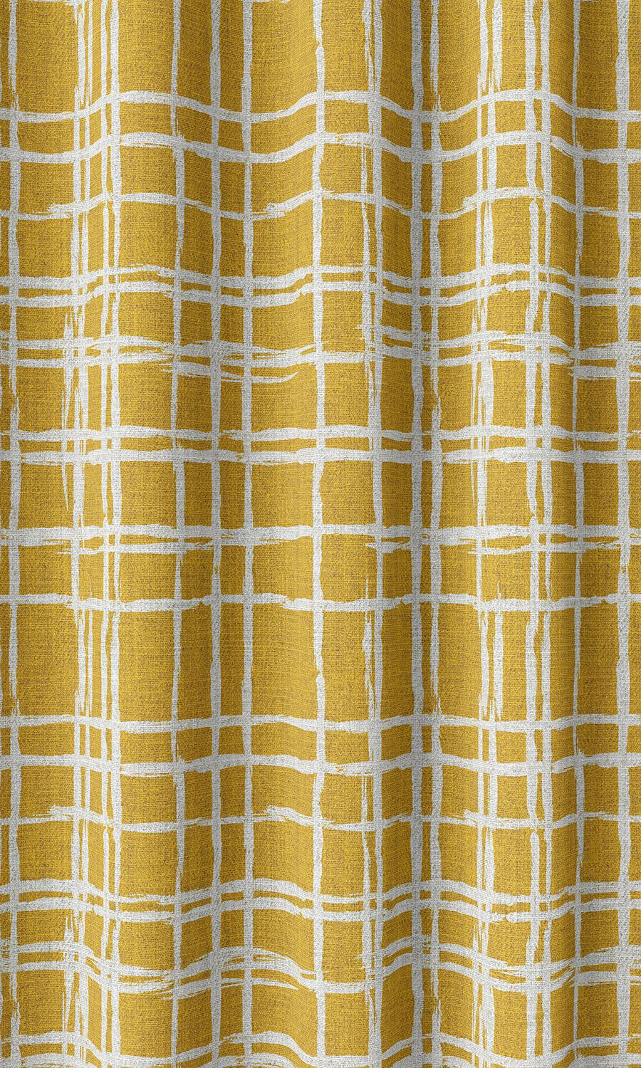 Yellow Checked Affordable Custom Roman Shades