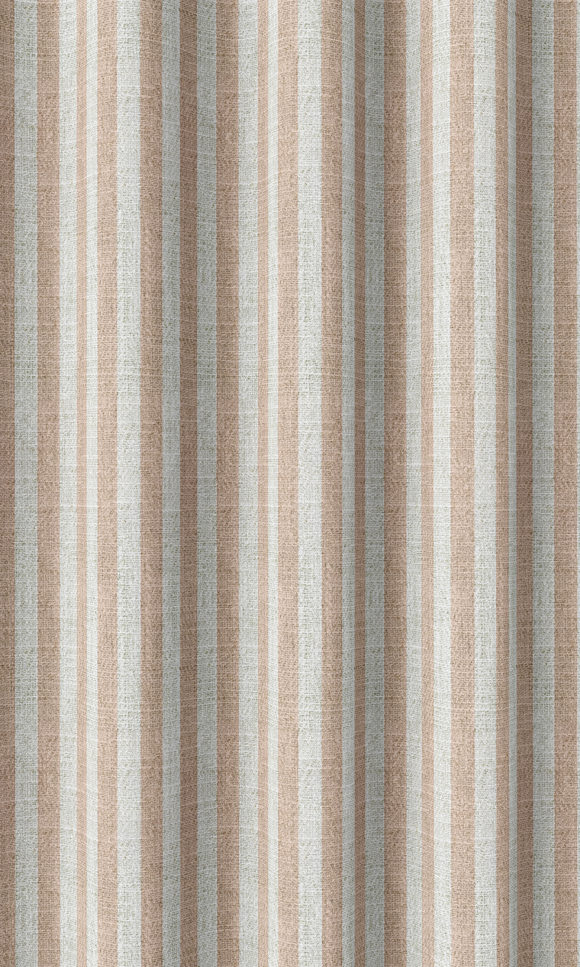 Pink Striped Affordable Custom Drapery