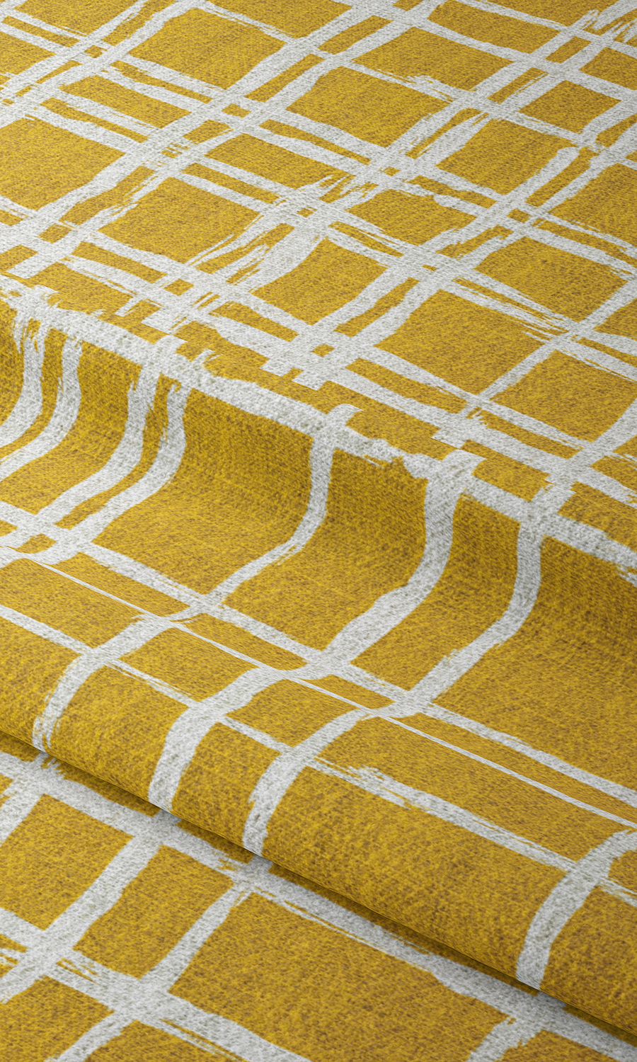 Yellow Checked Custom Roman Blinds For Living Room