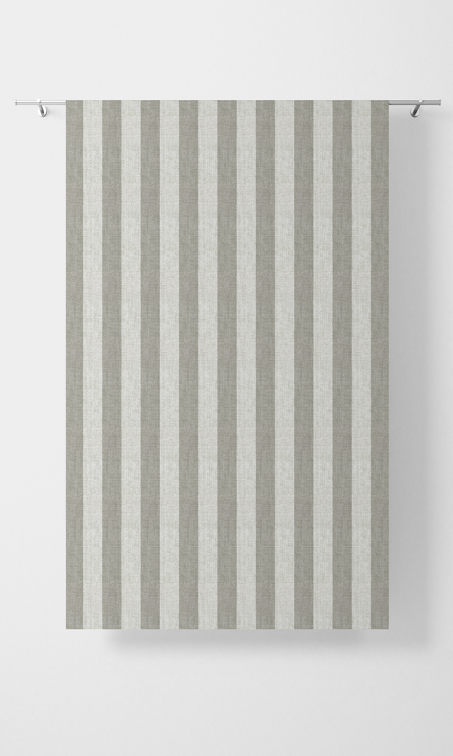 Grey Striped Custom Curtains For Living Room