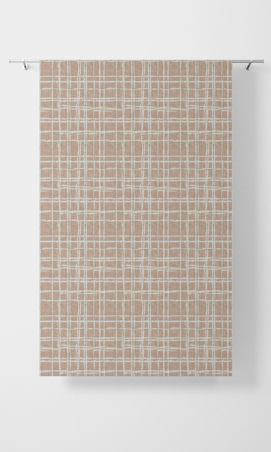 Pink Checked Cotton Short Custom Blind